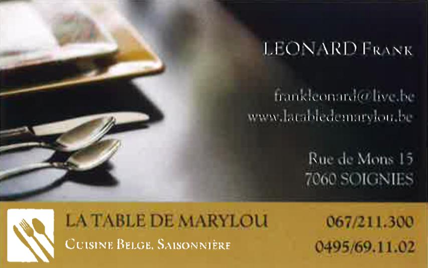 Table de Marylou